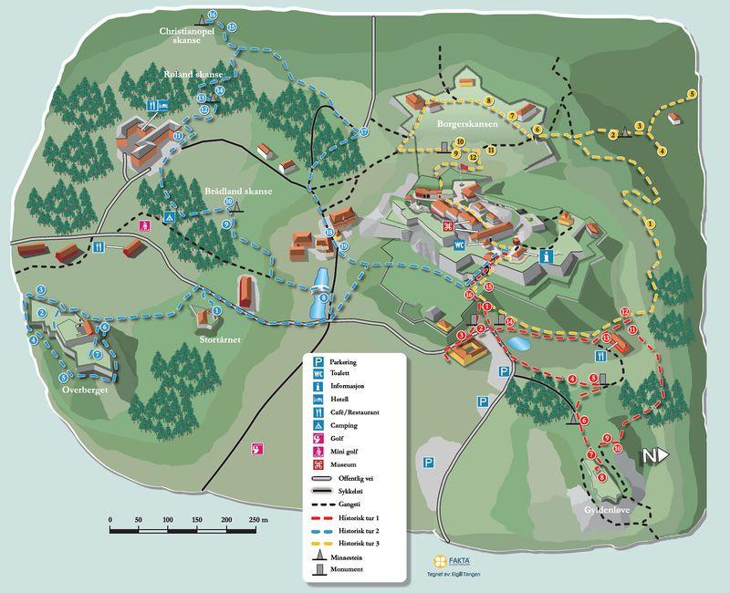 kart over fredriksten festning Fredriksten festning (kulturminneløype)   lokalhistoriewiki.no kart over fredriksten festning