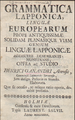 Ganander Grammatica Lapponica (1743).png
