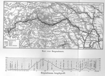 kart over bergensbanen Bergensbanen   lokalhistoriewiki.no kart over bergensbanen