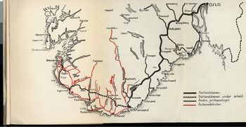 sørlandsbanen kart Sørlandsbanen   lokalhistoriewiki.no sørlandsbanen kart
