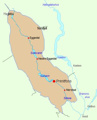 sigdal kommune kart Sigdal kommune   lokalhistoriewiki.no sigdal kommune kart