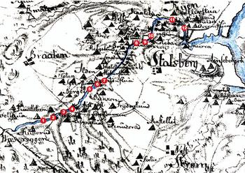 kart over strømmen Sagelvas mange bruer   lokalhistoriewiki.no kart over strømmen
