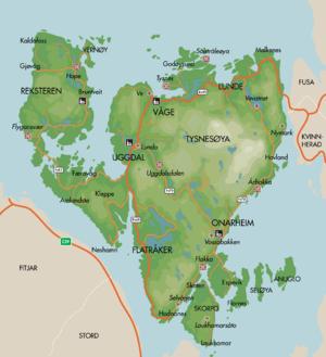 tysnes kommune kart Tysnes kommune   lokalhistoriewiki.no tysnes kommune kart