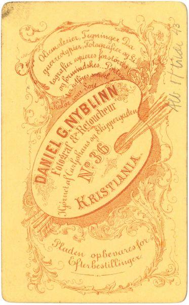 Fil:Daniel G Nyblinn, Kristiania (Revers).jpg