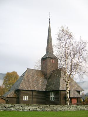 Kvam church, Nord-Fron, Norway (Rear).JPG