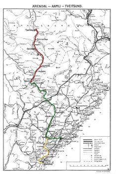 Karta Arendal Norge.Treungenbanen Lokalhistoriewiki No